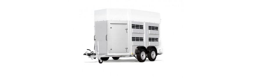Rimorchio trasporto animali in alluminio